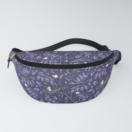 Bluebells and bumblebees - Violet Fanny Pack