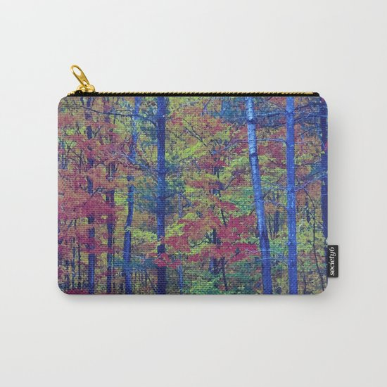 Forest - with exaggerated colors Carry-All Pouch
