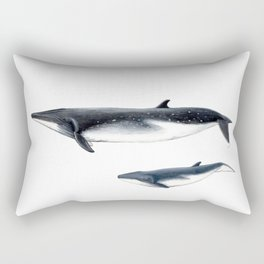 Bryde´s whale and baby whale Rectangular Pillow
