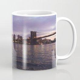 Between Two Iconic New York Bridges Coffee Mug