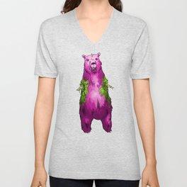 Armless Bear in Nature Unisex V-Neck