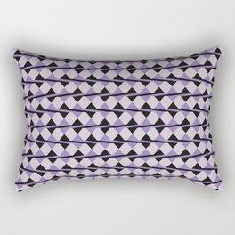 Purple and Black Diamonds and Stripes Rectangular Pillow