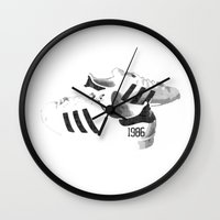 popart Wall Clocks featuring PopArt by C R Clifton Art