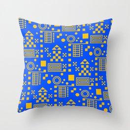 Wonderland Blue Throw Pillow