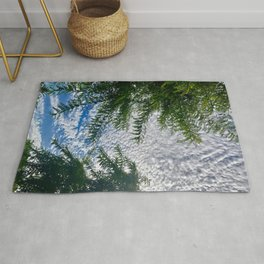 Cloud and Tree Patterns Rug