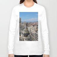 madrid Long Sleeve T-shirts featuring Madrid Espana by Eduardo Doreni