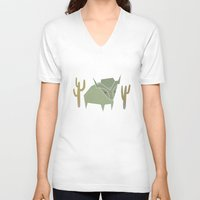 bison V-neck T-shirts featuring Bison by N1MH