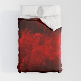 Red And Black Luxury Abstract Gothic Glam Chic by Corbin Henry Duvet Cover