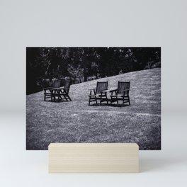 Lawn Chairs Mini Art Print