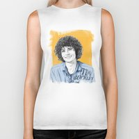 tim shumate Biker Tanks featuring Tim Buckley by Daniel Cash