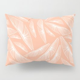 Feathered Leaf Pattern in Apricot Pillow Sham