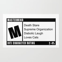 M is for INTJ Mastermind Introvert Rating Rug