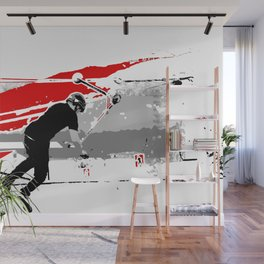 Spinning the Deck - Tail-whip Scooter Stunt Wall Mural
