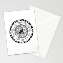Circle Doodle Stationery Cards
