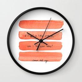 |BABY| Wall Clock