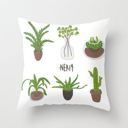Simple Plants Throw Pillow