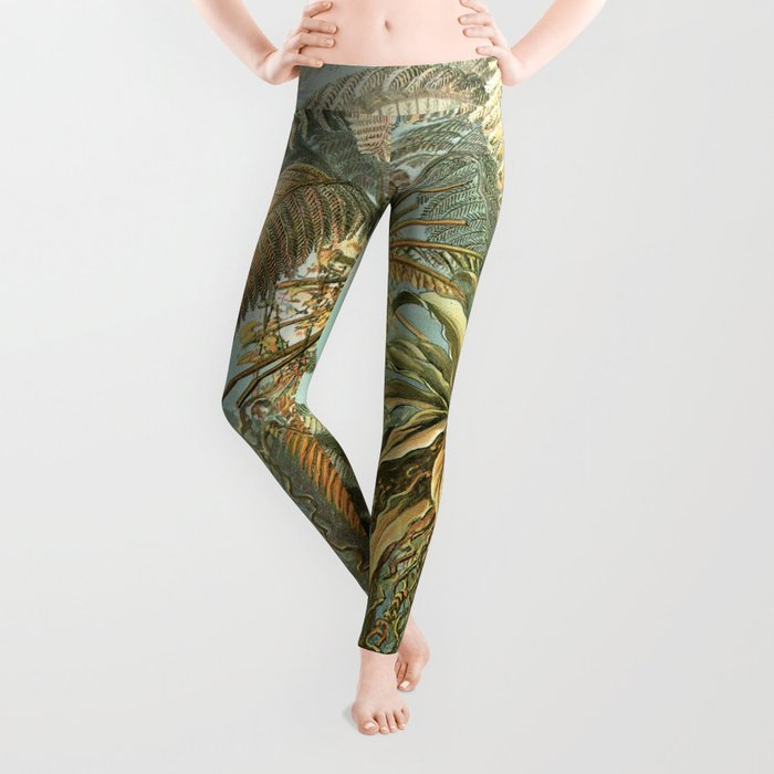 Vintage Tropical Palm Leggings