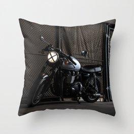 Triumph Cafe Racer Throw Pillow