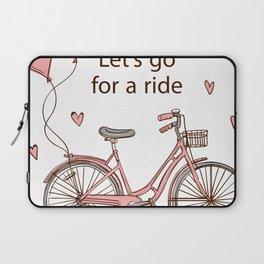 Cartoon Bike Laptop Sleeve