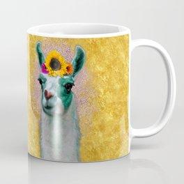 Flower Power Llama Coffee Mug