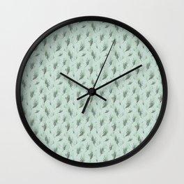 Lavander Pattern Green Wall Clock