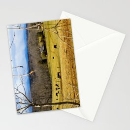 Cattle ranch overlooking the Blue Ridge Mountains Stationery Cards