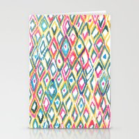 ikat Stationery Cards featuring IKAT by  Ray Athi