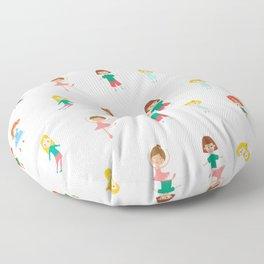 Dolls Print patterns Floor Pillow