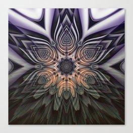 Dramatic transformation mandala Canvas Print