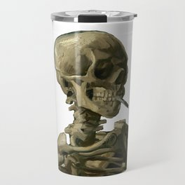 Van Gogh, Head of Skeleton Artwork Skull Reproduction, Posters, Tshirts, Prints, Bags, Men, Women, K Travel Mug