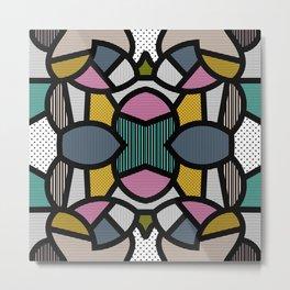 PopArt Tile 2 Metal Print