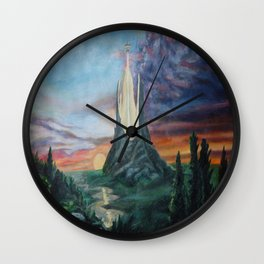 White tower Wall Clock