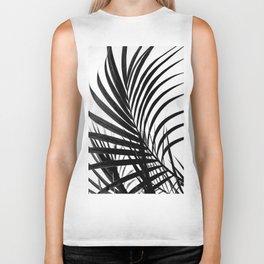 Simple palm leaves paradise in black Biker Tank