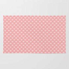 Large Light Pink Love Hearts on Blush Pink Rug