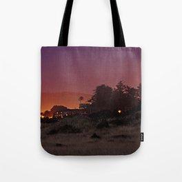 Gold Beach At Night Tote Bag