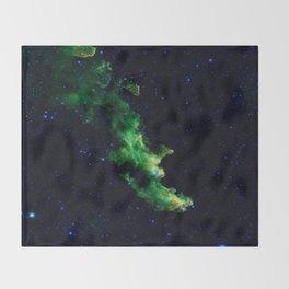 Galaxy: Green Witch's Head Nebula Throw Blanket