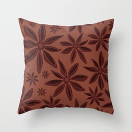 Star Anise Spice Toss Throw Pillow