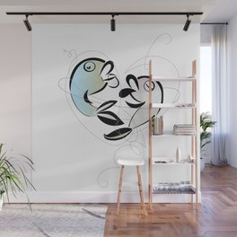 Fish love Wall Mural