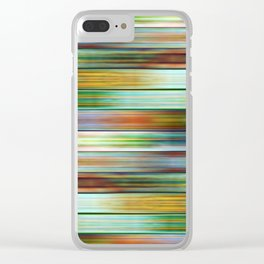 Colorful Metal Ribbons Pattern Clear iPhone Case