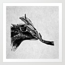 how to train your dragonbike Art Print