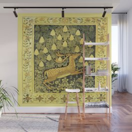 A Deer, A Rabbit and A Leafy Chestnut Tree Wall Mural