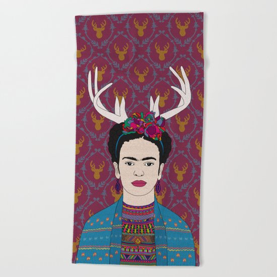 DEER FRIDA Beach Towel