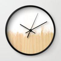 scandinavian Wall Clocks featuring Scandinavian White by cafelab