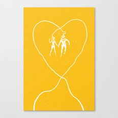 Love Space, Yellow Canvas Print