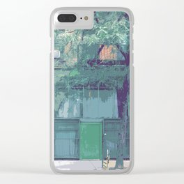 Bleeker St, New York Streetscape Clear iPhone Case