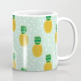 Pineapples triangles mint minimal pattern tropical fruits print Coffee Mug