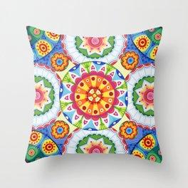 pop flowers Throw Pillow
