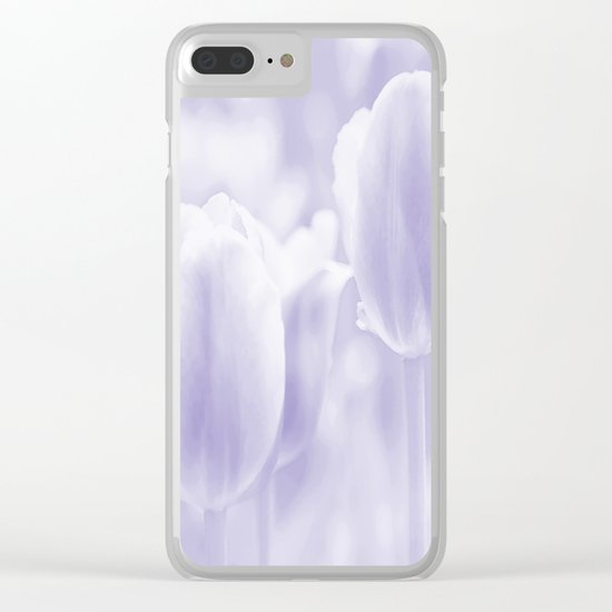 Day dream in shades of violet - spring atmosphere Clear iPhone Case