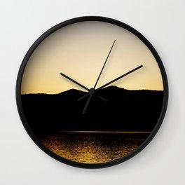 Gold Reflex Wall Clock