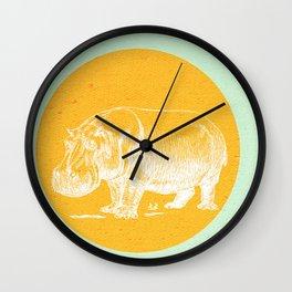 Blossom me Hippo Wall Clock